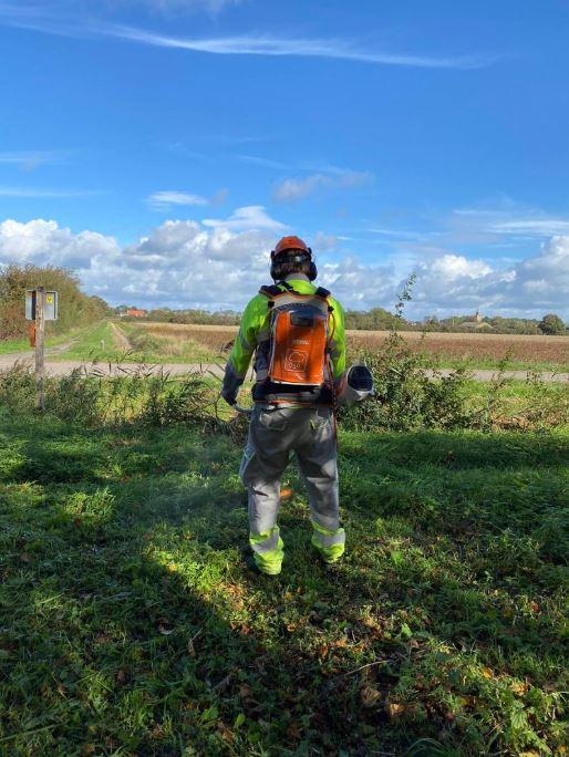 Veilig werken met de bosmaaier