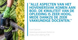 Quote Frank Geensen | VHG branche-opleiding